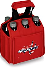 PICNIC TIME NHL Washington Capitals Six Pack Insulated Neoprene Beverage Tote, Red