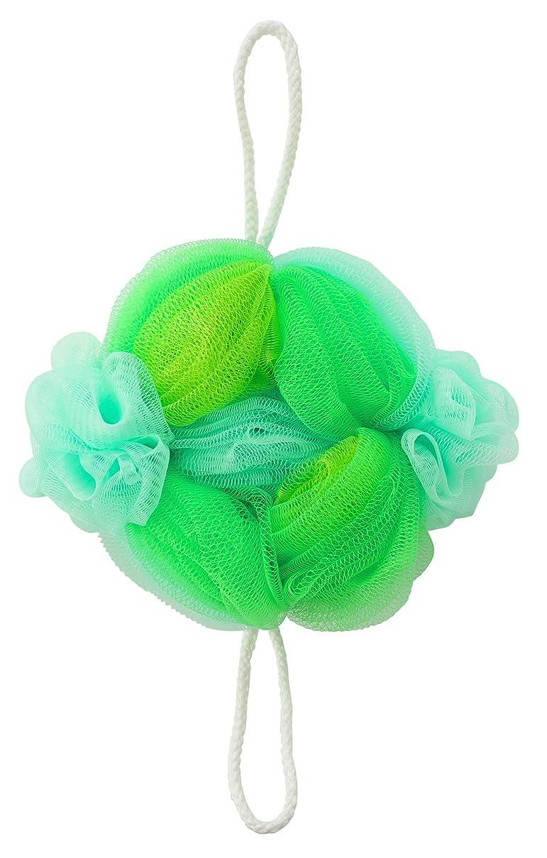 何よりも覗く韓国語マーナ ボディースポンジ 「背中も洗えるシャボンボール フラワー」 グリーン B588G