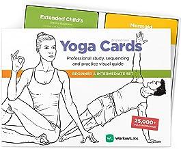 WorkoutLabs YOGA CARDS I & II – Complete set Beginners & Intermediate: Professionele visuele studie, Klasse Sequencing & P...