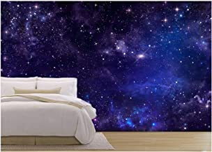 wall26 - Starry Night Sky Deep Outer Space - Removable Wall Mural | Self-Adhesive Large Wallpaper - 100x144 inches