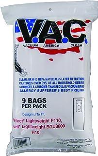 VACUUM AMERICA CLEAN VAC 31 Bissell Lightweight BGU8000, BGU8500, Perfect Lightweight P109, P110, H-10 HEPA Filtration (Pack of 9)