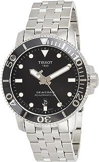 Men's Seastar 660/1000 Swiss Automatic Stainless Steel Strap, Grey, 21 Casual Watch (Model: T1204071105100)