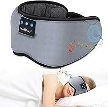 Bluetooth Sleep Eye Mask Wireless Headphones, TOPOINT Upgrade Sleeping Travel Music Eye Cover Bluetooth Headsets with Micr...