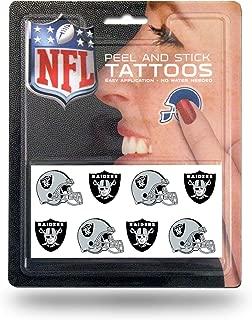 Rico Industries NFL Oakland Raiders Face Tattoos, 8-Piece Set