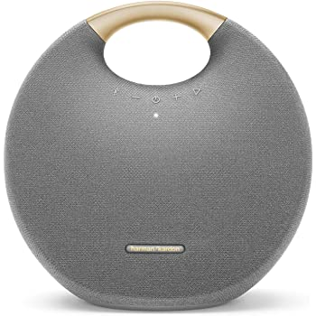Harman Kardon Onyx Studio 6 Altavoz inalámbrico Bluetooth – IPX7 Impermeable Sistema de Sonido Extra bajo con batería Recargable y micrófono Integrado – Gris