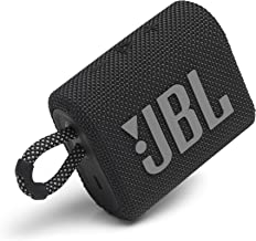 JBL Go 3: Portable Speaker with Bluetooth, Built-in Battery, Waterproof and Dustproof Feature -...