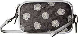 Sadie Crossbody Clutch in Signature Rose Print