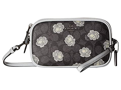 92c4cf9f701b COACH Sadie Crossbody Clutch in Signature Rose Print at 6pm