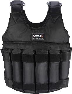 ウエイトジャケット 加重ベスト エクササイズ 調節可能 最大荷重50kg 耐摩耗 通気 黑