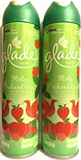 Glade Air Freshener Spray-Limited Edition-Fall Collection 2017-Flirty Orchard Kiss-Net Wt. 8 OZ (227 g) Per Pack of 2 Cans