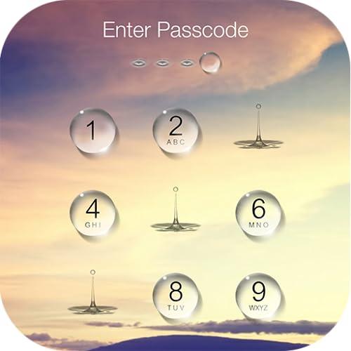 Water Drop Lock Screen IOS10