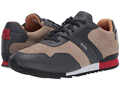 BOSS Hugo Boss Parkour Run Suede Sneakers by BOSS (Open Beige) Men