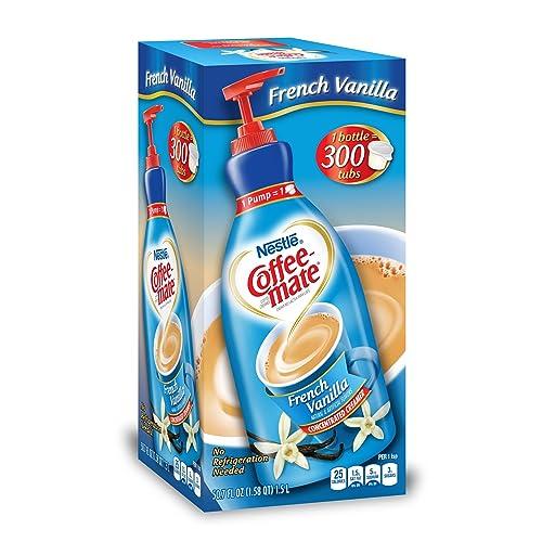 Nestle Coffee-mate Coffee Creamer, French Vanilla, 1.5L Liquid Pump Bottle,