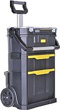 Stanley STSTST1-79231 2-in-1 rollende werkplaats, 56 x 76,4 x 38,2 cm, gereedschapsdrager met organizeropzetstuk, lade, tw...