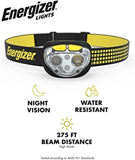 Energizer VISION LED Headlamp Flashlight, 400 High Lumens, IPX4 Water Resistant, Multiple..
