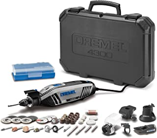 Dremel 4300-5/40 High Performance Rotary Tool Kit with LED Light- 5 Attachments & 40 Accessories- Engraver, Sander, and Polisher- Perfect for Grinding, Cutting, Wood Carving, Sanding, and Engraving