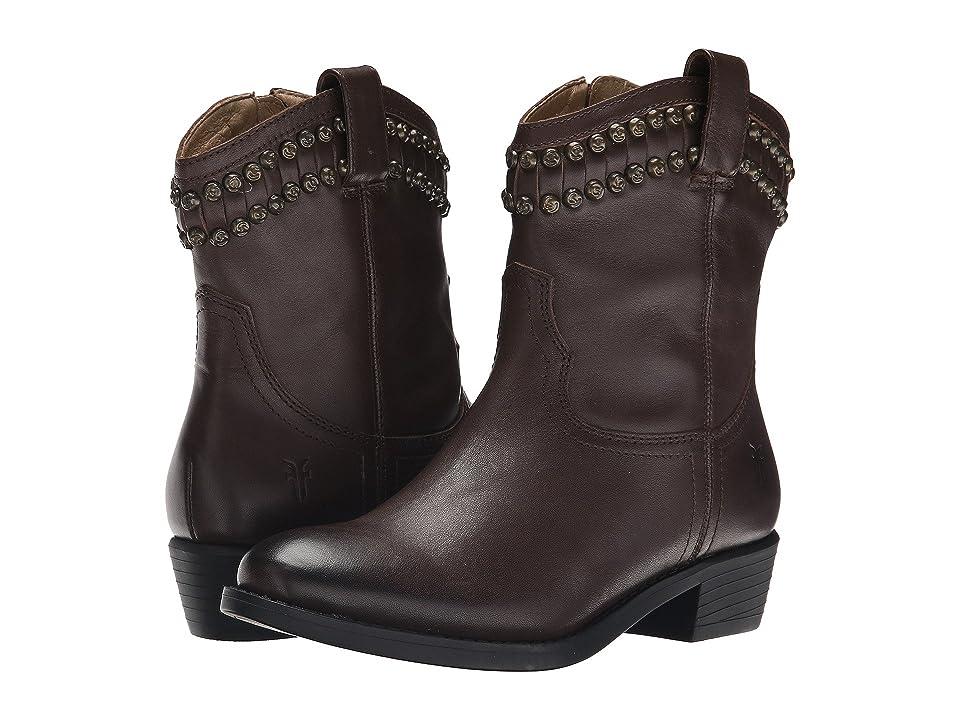 Frye Kids Diana Cut Stud (Little Kid/Big Kid) (Dark Brown) Girls Shoes
