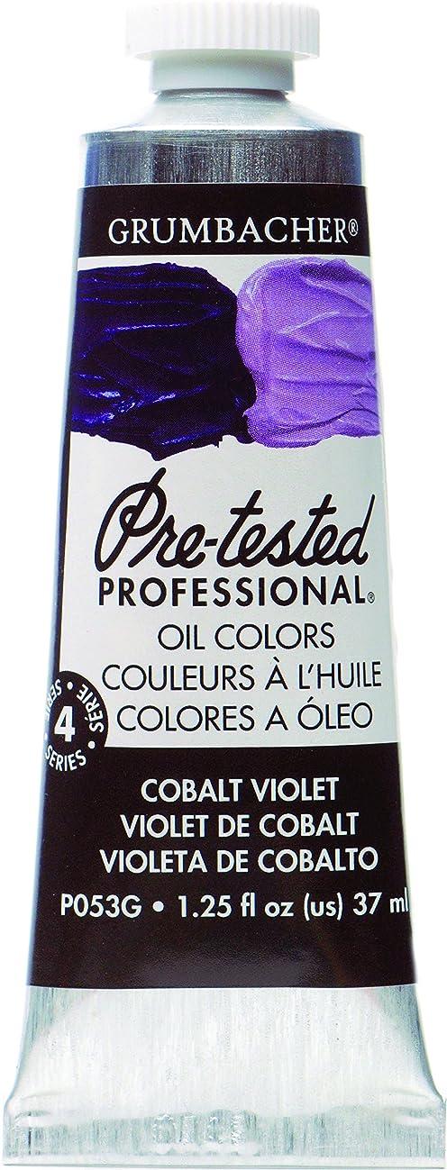 Grumbacher Pre-Tested Oil Paint, 37ml/1.25 Ounce, Cobalt Violet Hue (P053G)