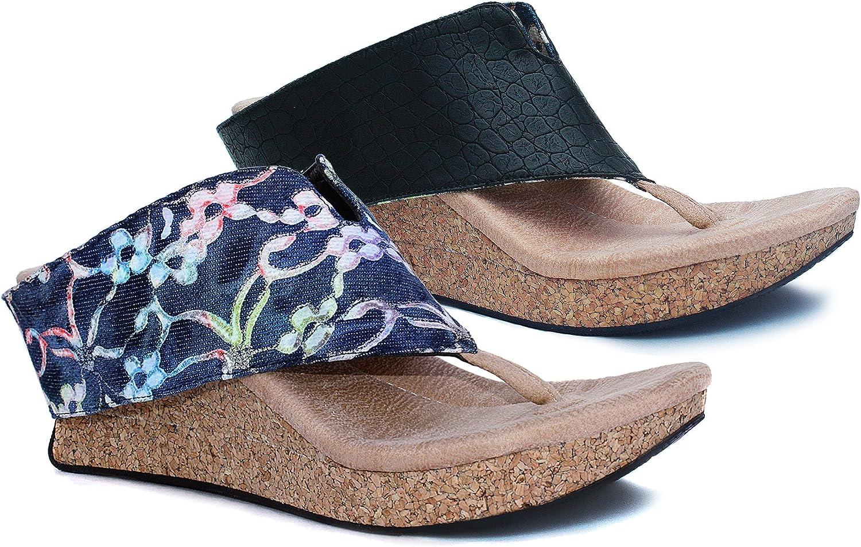 Modzori Nika Women's Mid Wedge Reversible Sandal