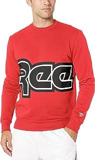Reebok Classic Red Button Crew Neck Sweatshirt