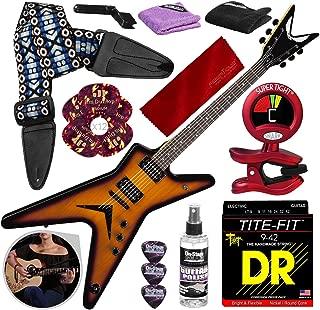 Dean MLX Electric Guitar, Trans Brazilia with Guitar Strap, Strings, Picks, Deluxe Accessory Bundle