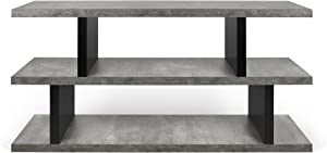 TemaHome, Step, Libreria Bassa, Grigio (Grigio/Nero), 163 x 36 x 41 cm
