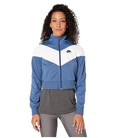 Nike NSW Heritage Track Jacket Poly Knit (Mystic Navy/White/Midnight Navy) Women