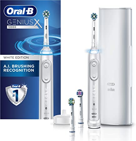Amazon.com: Oral-B GENIUS X Electric Toothbrush with 3 Oral-B Replacement  Brush Heads and Toothbrush Case, White (Packaging May Vary) : Beauty &  Personal Care