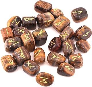 Healing Crystals India Witchcraft Crystals Viking Rune Hand Casting Kit Chakra Healing River Stones Reiki Crystals Gemston...
