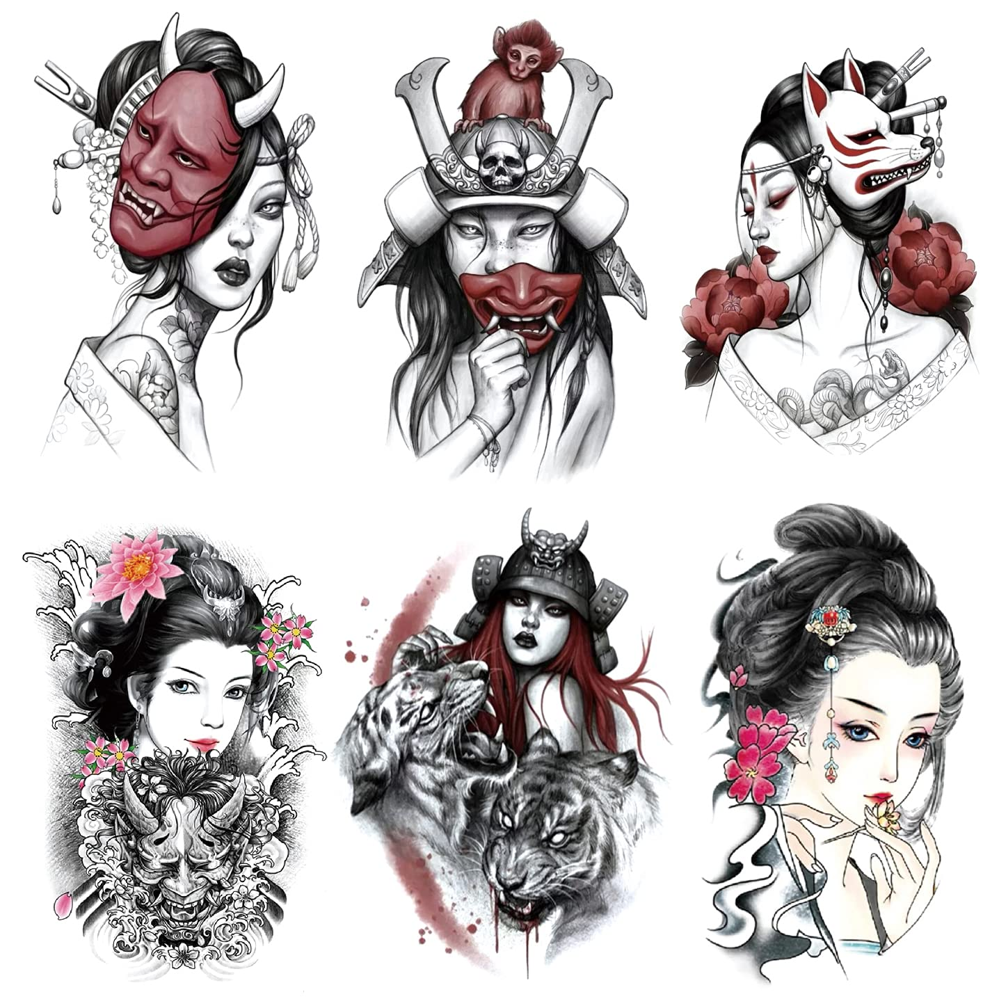 Free shipping on posting reviews Oottati 6 Sheets In a popularity Arm Fake Temporary Tattoos Stickers Waterproof