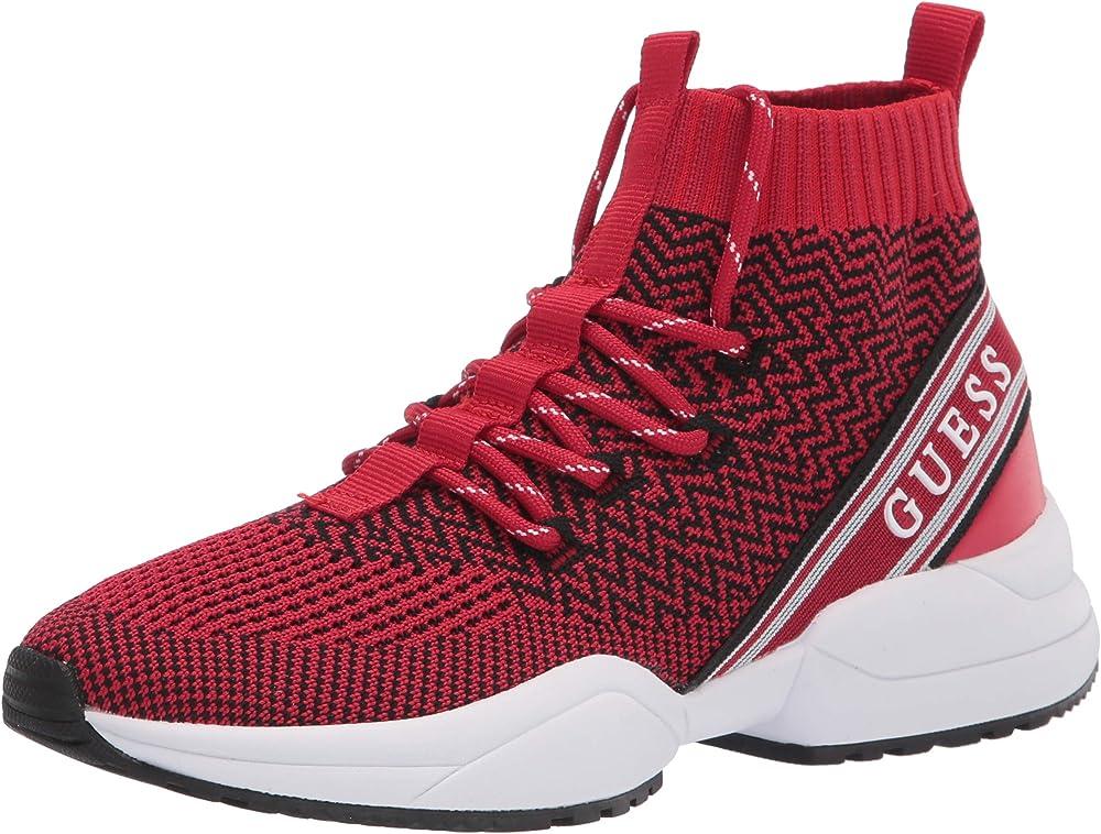 Guess 115 scarpe sneakers da donna a maglia con dettagli del logo gwBRITE