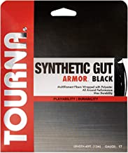 TOURNA Synthetic Gut Armour Tennis String Black ()