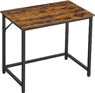 VASAGLE Bureau, Table, Poste de Travail, 80 x 50 x 75 cm, pour Bureau, Salon, Chambre, Assemblage Simple, Métal, Style Ind...