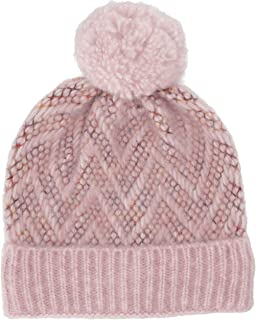 Steve Madden Women's Brushed Chevron Knit Cuff Hat with Pom
