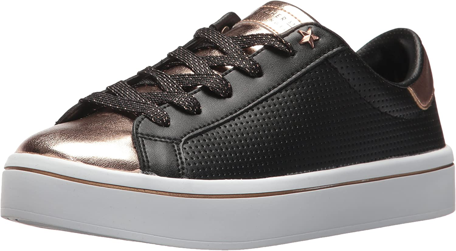 Skechers Womens Hi-Lite - Metallic Toe and Tongue Sneaker