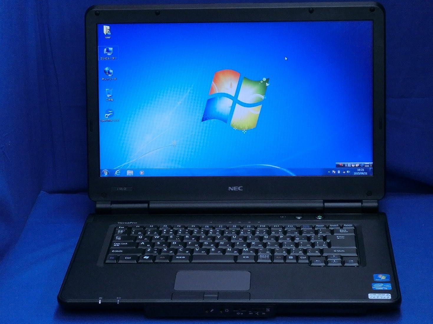 タイプ優雅第二に【中古】 NEC VersaPro タイプVL VJ24T/L-D(PC-VJ24TLZCD) ノートパソコン Corei5 2430M 4GB 250GB Windows7pro PC-VJ24TLNCAGEDMBZBY