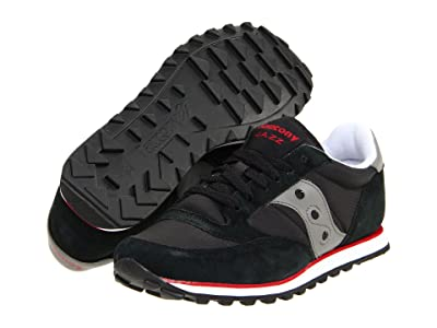 Saucony Originals Jazz Low Pro (Black/Dark Gray/Red) Men