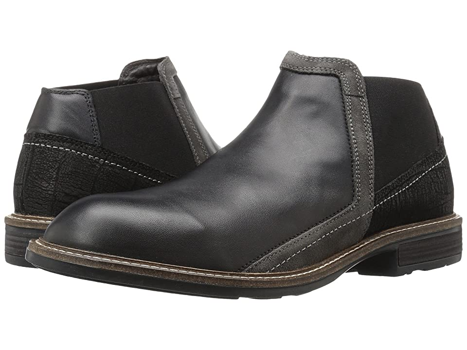 9f2a0b52416f Naot Business (Black Raven Leather Black Crackle Leather Gray Suede) Men s  Shoes
