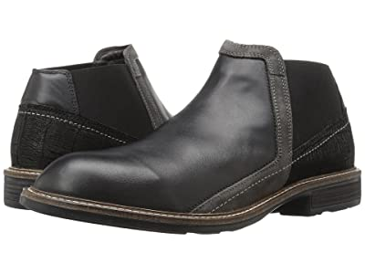 Naot Business (Black Raven Leather/Black Crackle Leather/Gray Suede) Men