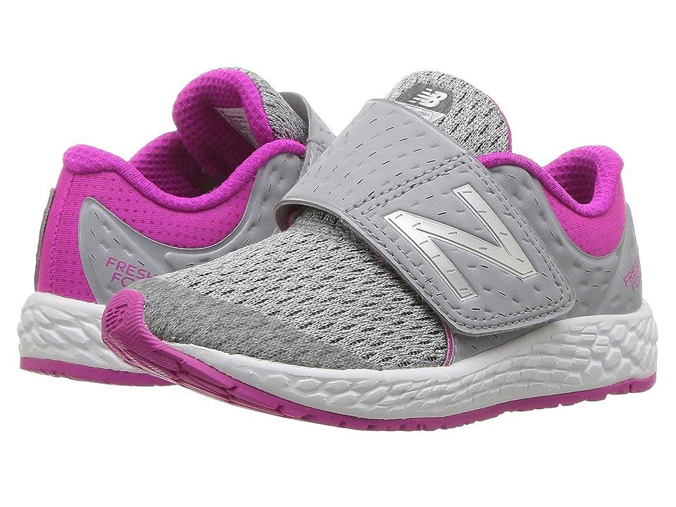 New Balance Kids KVZNTv4I (Infant/Toddler) (Silver Mink/Azalea) Girls Shoes