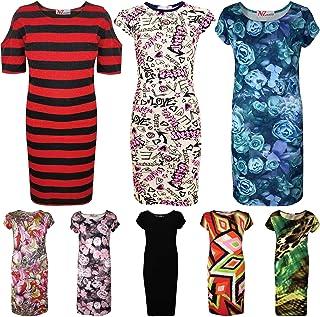 Kids Girls Midi Dress Designer Party Fashion School T-Shirt Tank Tops Tees 7-13 Yr