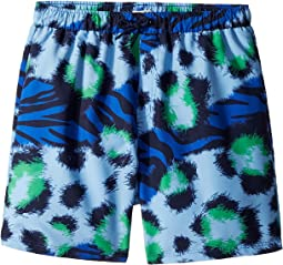 Kenzo Kids Tiger Print Swim Shorts (Big Kids)