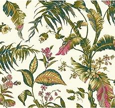 York Wallcoverings Tropics Fiji Garden Removable Wallpaper, White/Teal/Aqua/Pink/Magenta/Yellow/Green