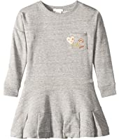 Chloe Kids - Embroidery Fleece Dress with A Pocket, Embroidered Patches (Little Kids/Big Kids)
