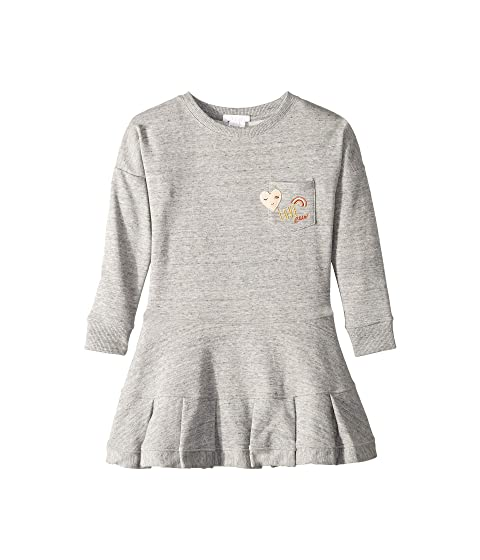 Chloe Kids Embroidery Fleece Dress with A Pocket, Embroidered Patches (Little Kids/Big Kids)