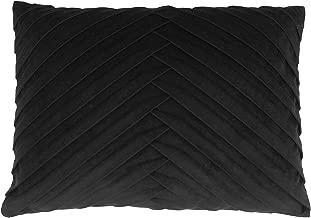 Thro by Marlo Lorenz Velvet Pillow, 14x20 Square, Jet Black