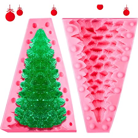 Soap Moulds Baking Moulds DXIA Candle Decorating Christmas Tree Mould Tools 3D DIY Candle Moulds Silicone Christmas Tree Candle Mould Mould Pink Silicone Christmas Tree Candle Moulds