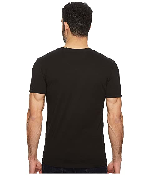 Trace Orange con negra camiseta v cuello BOSS en C5qn4pdxpw