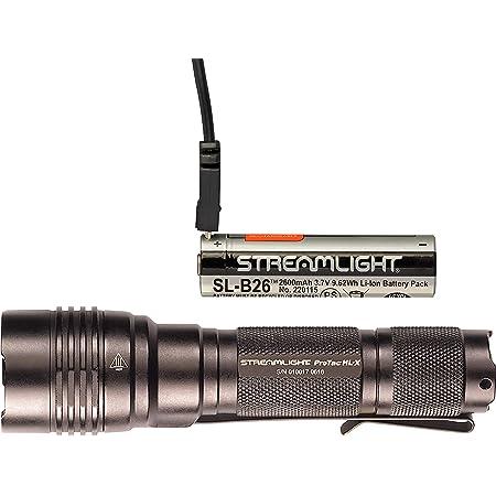 Streamlight 88040 Tactical Black Protac HL Flashlight 750 Lumen White LED Light
