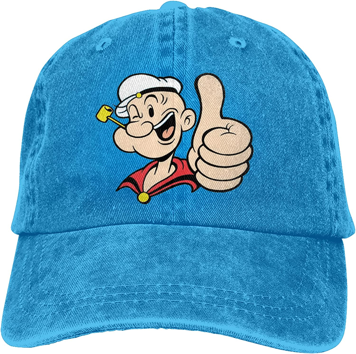 Fangpeilian Popeye Retro Adjustable Cap Unisex Fashion Cowboy Hat Baseball Cap, Suitable for Sports, Outdoor, Daily and Party
